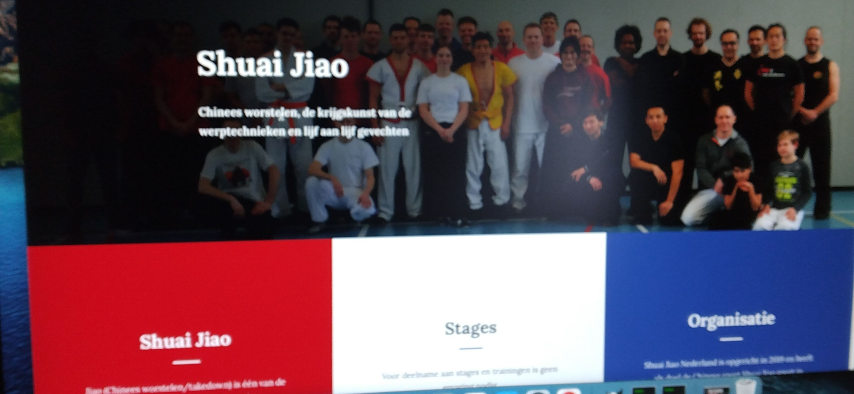 Shuai Jiao Nederland krijgt nieuwe website